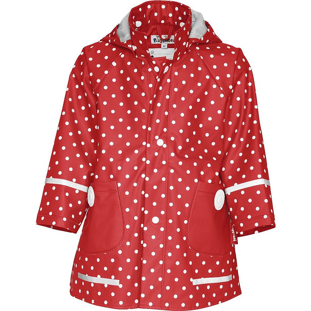 Płaszczyk Kropki Playshoes - Czerwony Poliestrowy Płaszczyk Dziecięcy - 408566 8