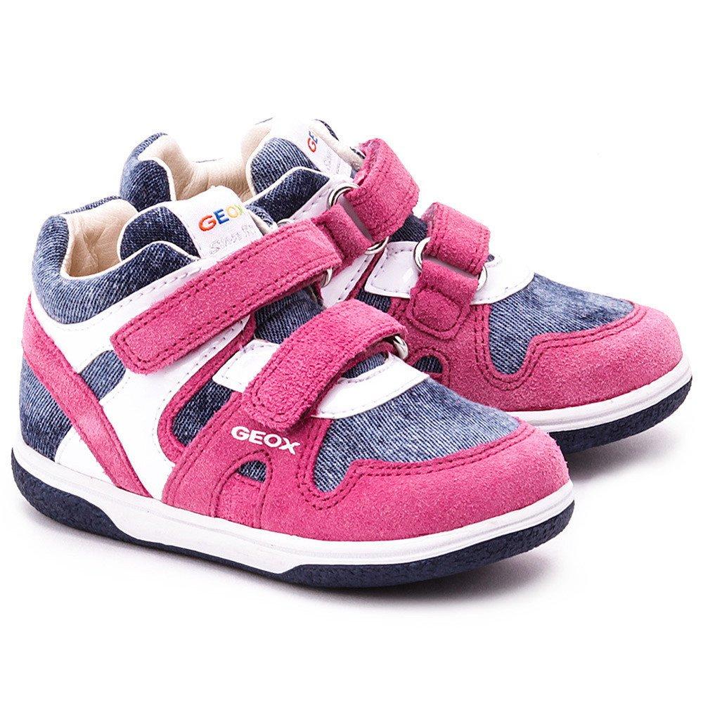 Baby Sum Flick - Różowe Zamszowe Trzewiki Dziecięce - B4234A 0PA22 C4117