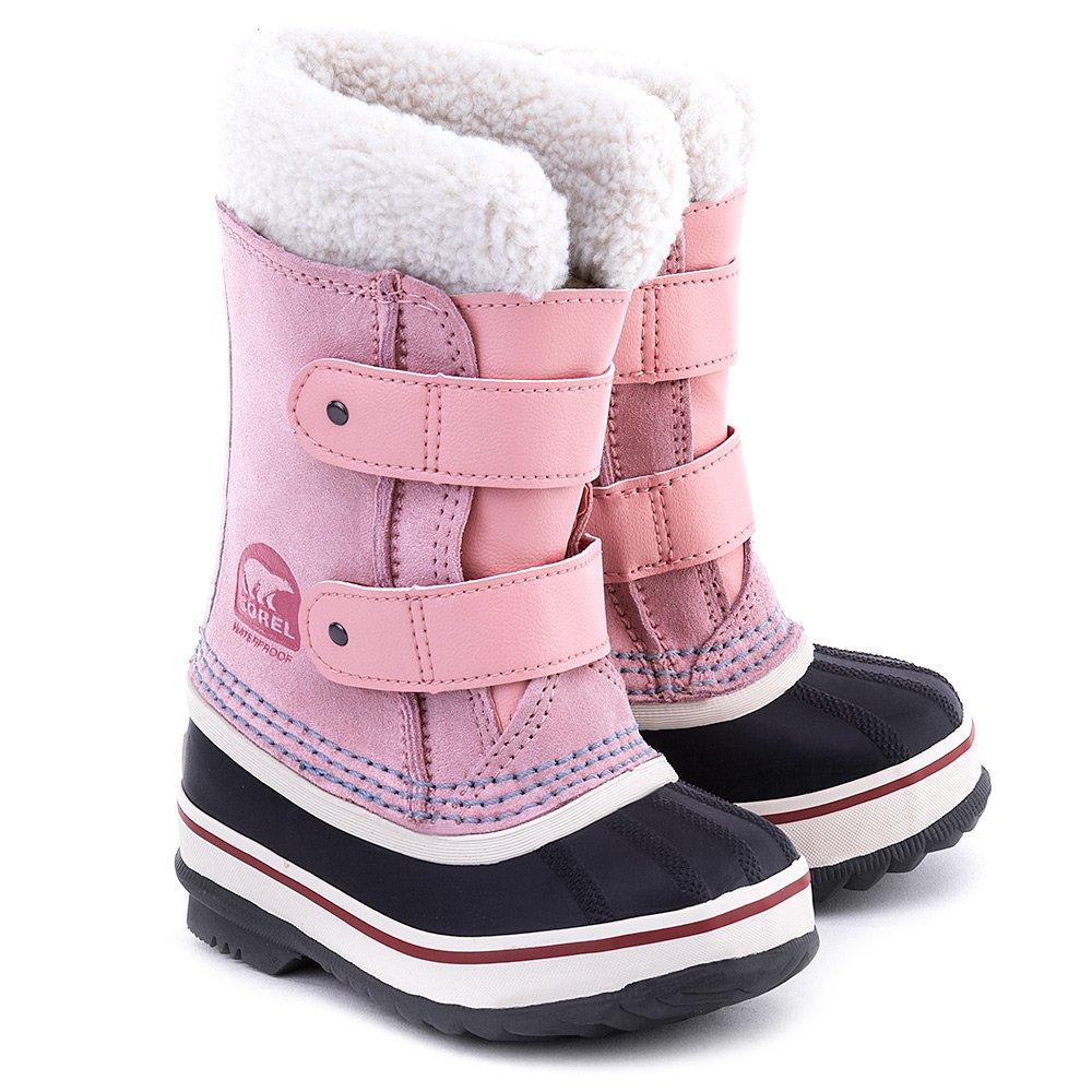 1964 Pac - Różowe Zamszowe Śniegowce Dziecięce - NC1876-644
