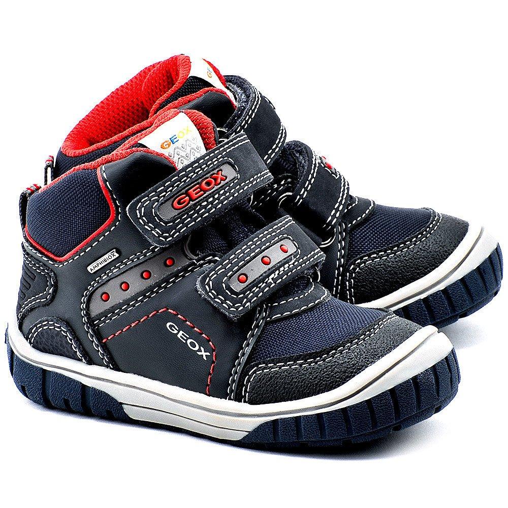 Baby Omar - Czarne Ekoskórzane Trzewiki Dziecięce - B44N3A 0CA50 C4075