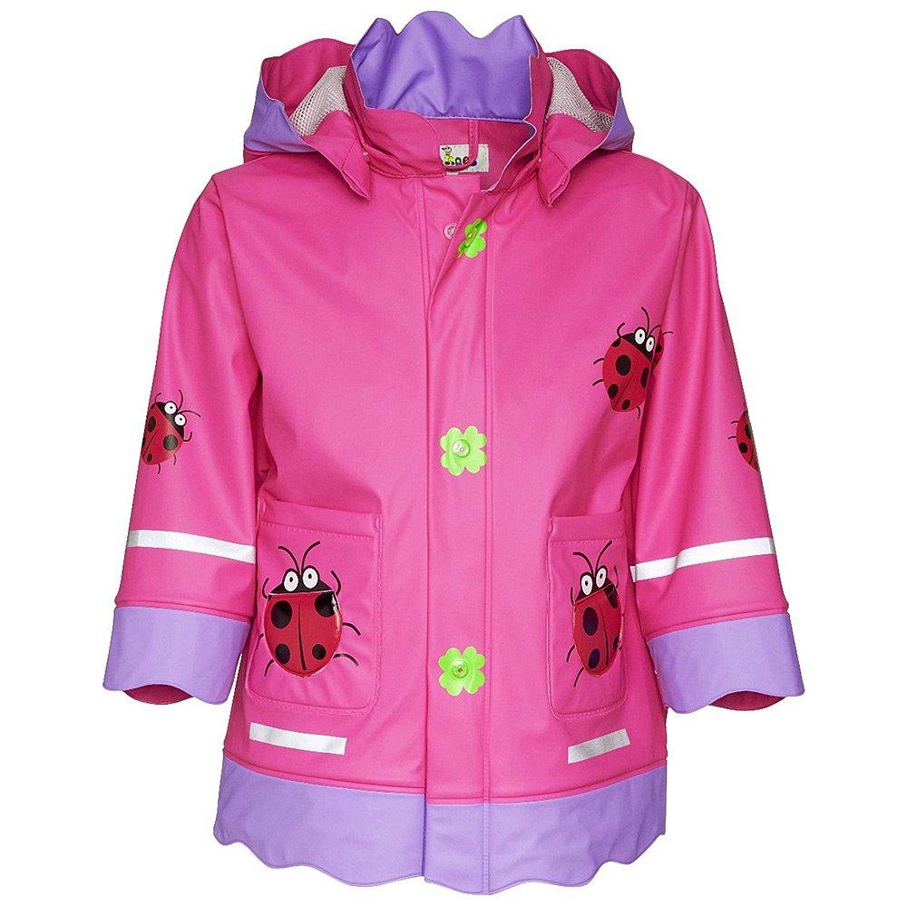 Płaszczyk Biedronka Playshoes - Różowy Poliestrowy Płaszczyk Dziecięcy - 408583 900