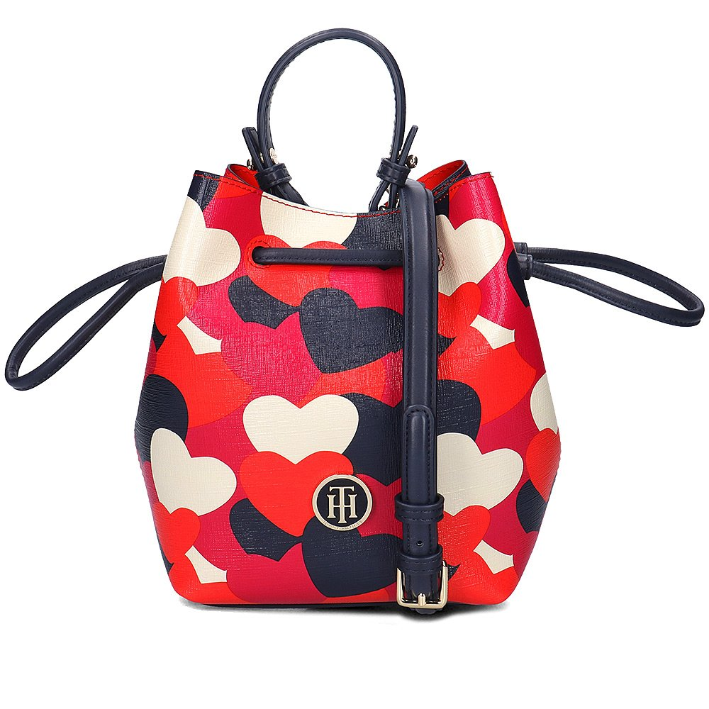 Tommy Hilfiger Love Tommy Mini Bucket Heart - Torebka Damska - AW0AW04069 906
